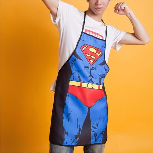 mandil superman para super chefs. envío gratis.