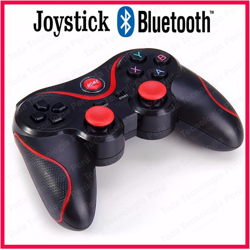 mando joystick bluetooth android ios recargable + sujetador