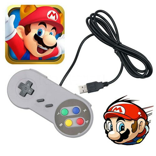 mando usb super nintendo para pc windows android mac