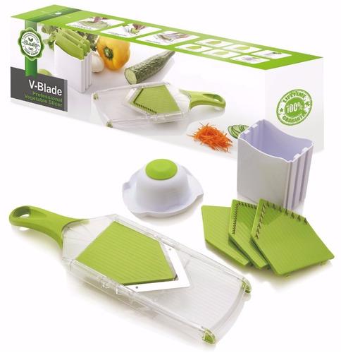 mandolina 4 en 1, para cortar en láminas y rayar verduras