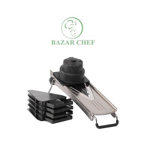 mandolina profesional acero inoxidable 5 cortes - bazar chef
