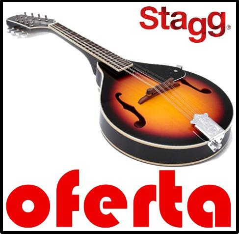 mandolina stagg m20 8 cuerdas + púas + factura a o b + gtía