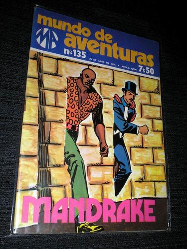 mandrake - mundo de aventuras - ano 1976 - ótimo  - heroishq