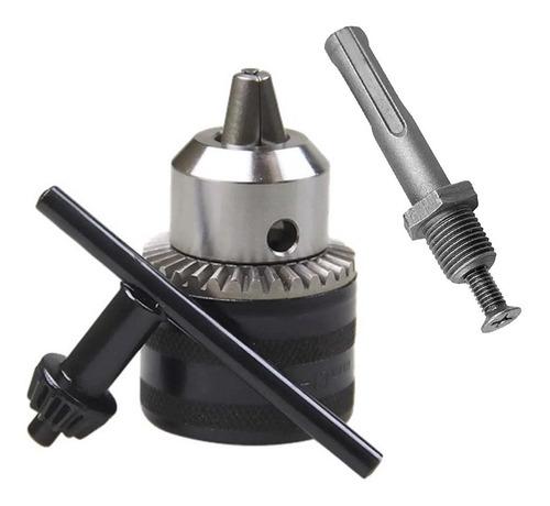 mandril 3/8 m24 rosca c/chave 4584 titanium + adaptador sds