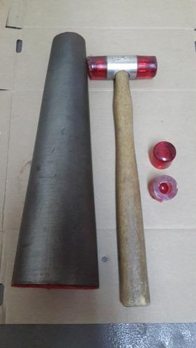 mandril redondo de acero templado p/anillos -venta x unidad-
