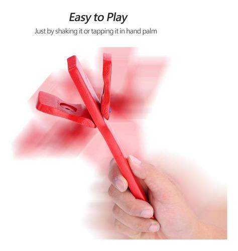 manejar largo de madera castañuela kids musical educativo r