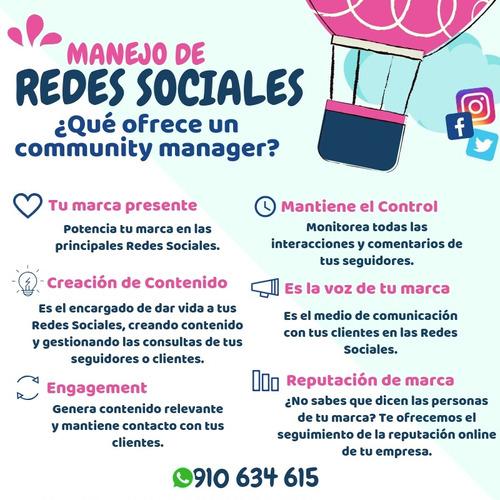 manejo de redes sociales community manager puente piedra