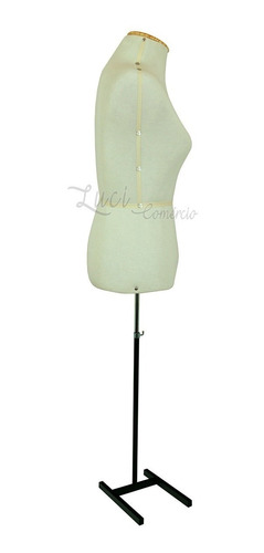 manequim busto feminino fibra com base , corte e costura