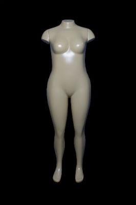manequim feminino bege gg reta afunilada rotomoldagem