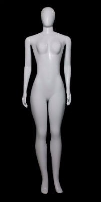 manequim feminino branco reta de rotomoldagem