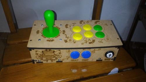 manete fliperama arcade para ps1 ps2 e pc mais brinde
