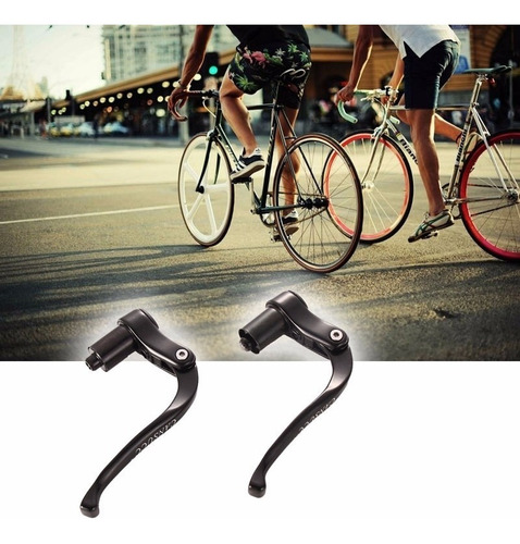 manete freio p/ bike aero clip triathlon fixed gear alumínio