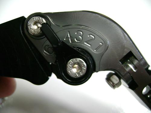 manetes 2 e 4 dedos dobraveis regulavéis para gsxr 750 srad