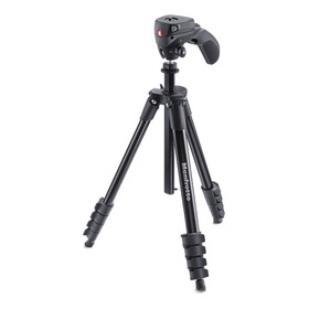 Manfrotto Mkcompactacn-bk Tripie Con Cabeza Compact Action