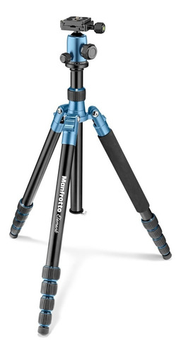 manfrotto mkeleb5bl-bh tripie traveller element grande azul