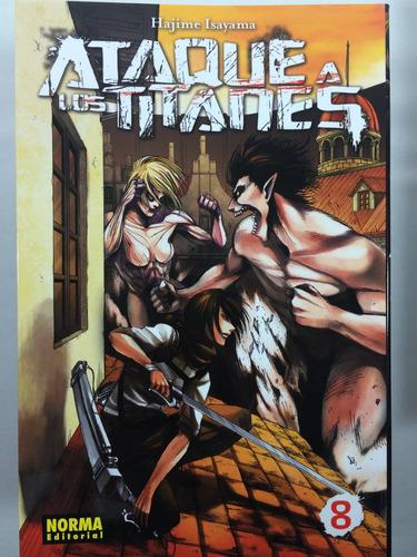 manga ataque a los titanes #8