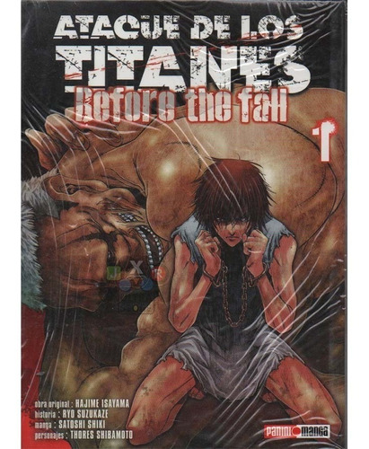 manga ataque de los titanes before the fall tomo 1 - jxr