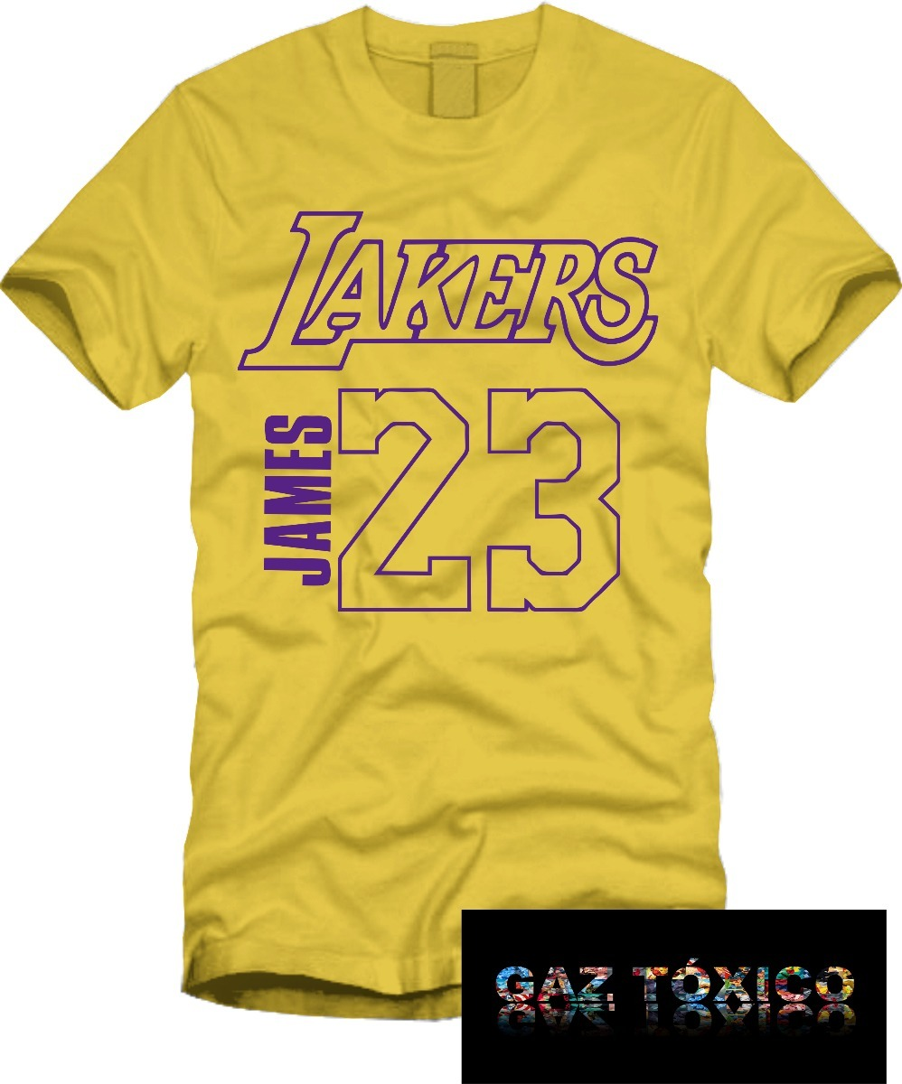 Playera Lebron James Los Angeles Lakers Manga Corta -   170.00 en ... 28a70e7117d71