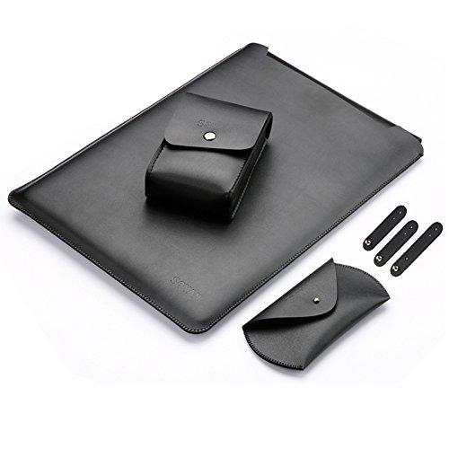 manga cuero manga caso para macbook aire 12 '' bolsa ipad