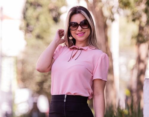 manga curta blusa