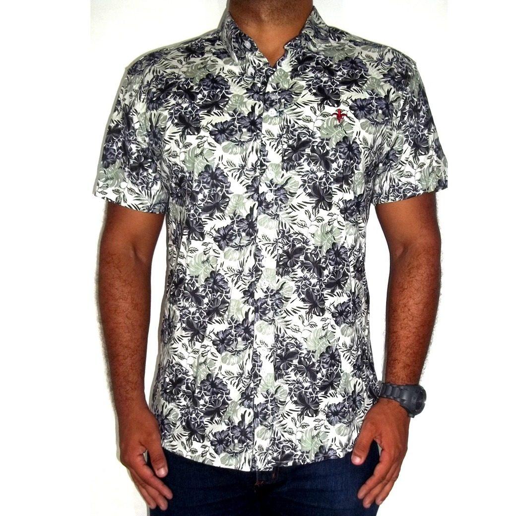 41fc06de863fd manga curta camisa casual. Carregando zoom... camisa masculina estampada  floral casual slim ...