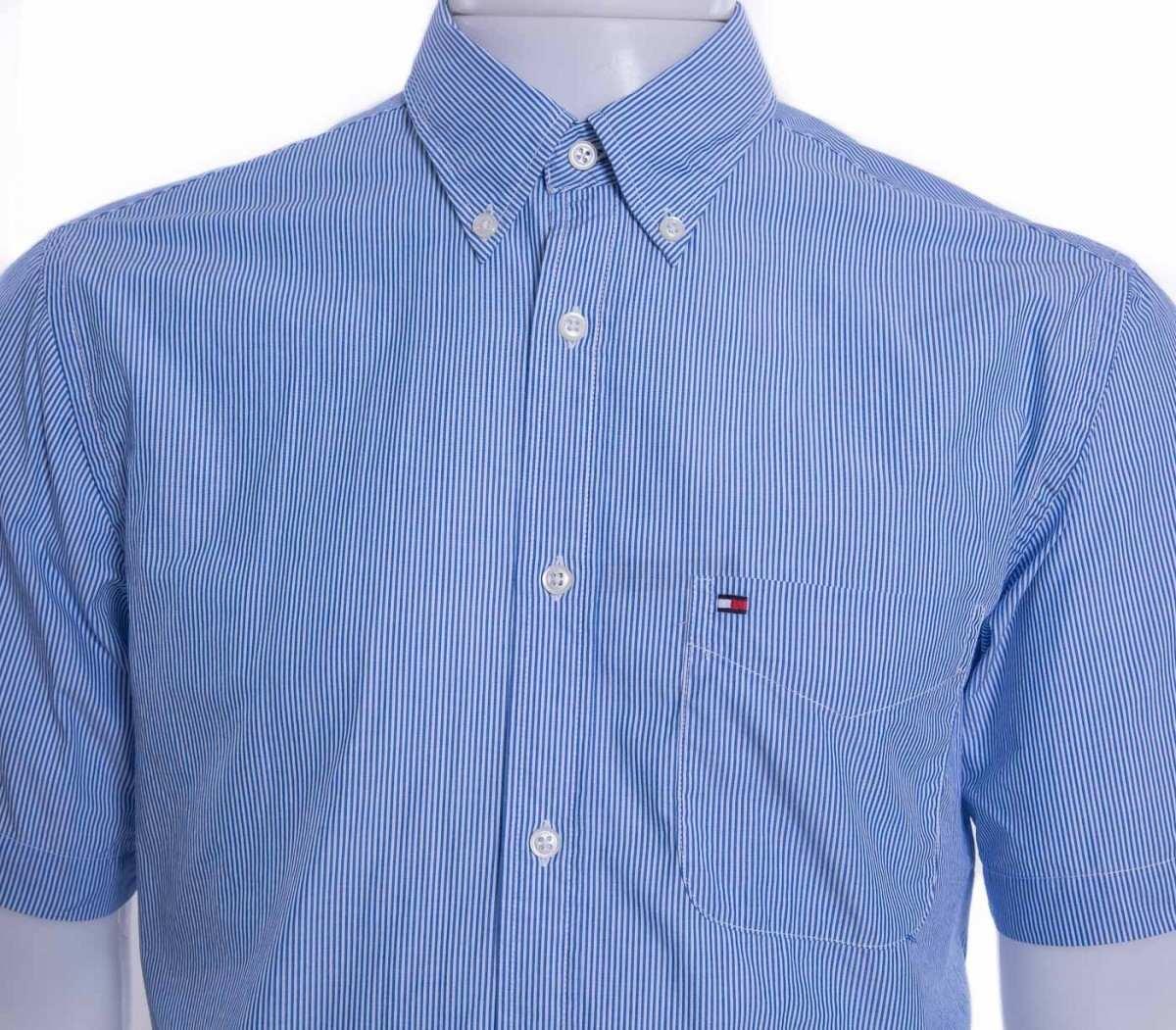 Camisa Social Masculina Tommy Hilfiger Manga Curta Original - R  215 ... 0668029f593be