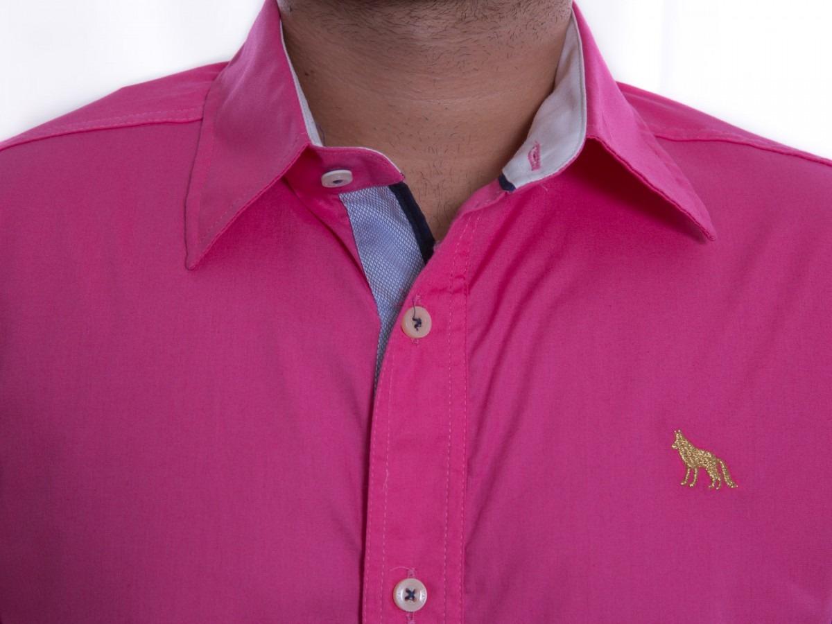 b21872d10 Camisa Social Masculina Acostamento Manga Curta 64101003 - R  147