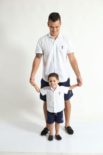 manga curta camisas social