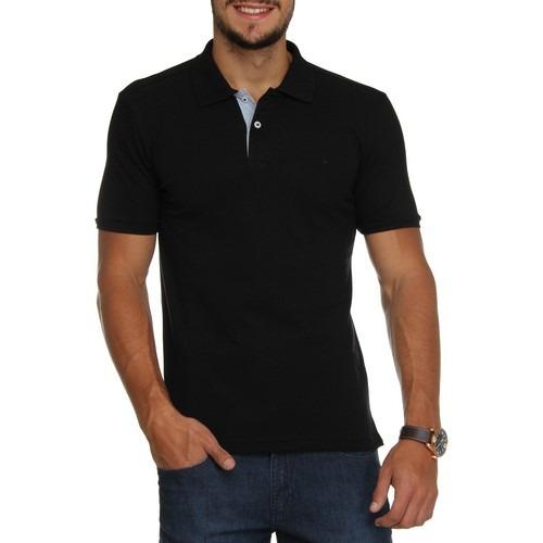 Camisa polo preta masculina manga curta em mercado jpg 500x500 Camisa preta  polo f2e86b9c4b32c