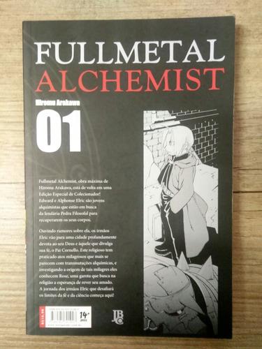 mangá  fullmetal alchemist  nova edição jbc  #1