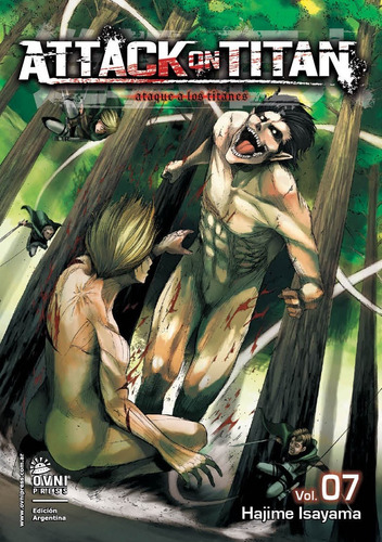 manga, kodansha, attack on titan 7. ovni press