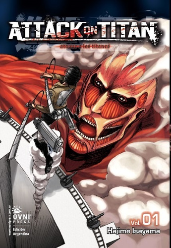 manga, kodansha, attack on titan  vol 1. ovni press