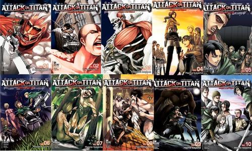 manga, kodansha, pack attack on titan 1 al 10 ovni press