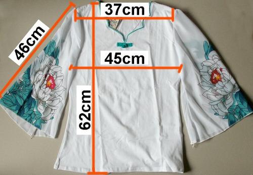 manga larga blusa