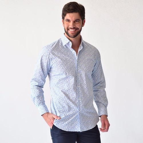 manga larga camisa hombre