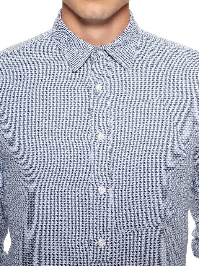 Camisa De Vestir Oxford Manga Larga Made In Portugal -   1 619b309798578