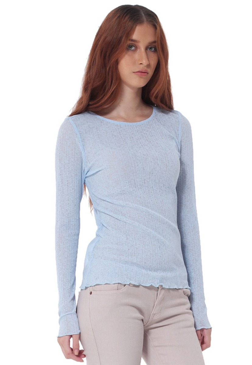 7ca04e2dad8e8 camiseta manga larga de mujer aishop af173-1102-552 azul. Cargando zoom... manga  larga mujer. Cargando zoom.