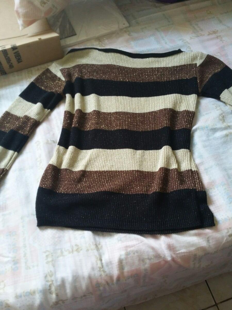 0d45d4e13 Carregando zoom... blusa frio linha manga longa marrom dourada