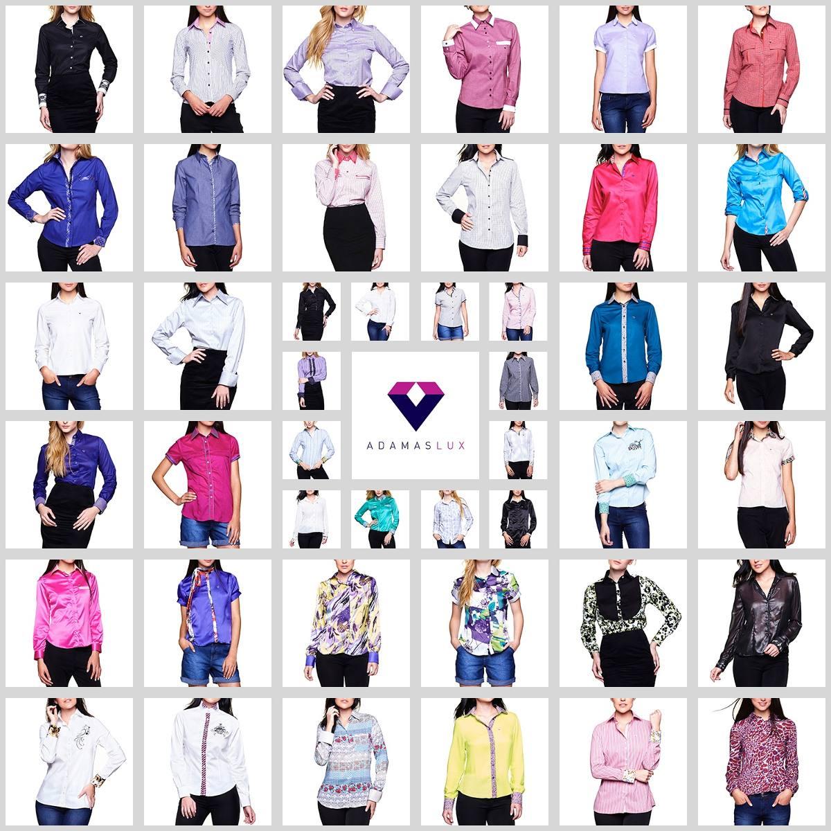 49267aa2d0 Camisa Feminina Blusa Listrada Cinza Manga Longa Regular - R  39
