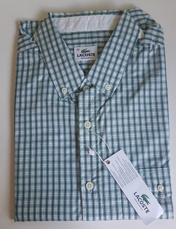 Camisa Lacoste Manga Longa Xadrez Original Regular Fit - R  349,00 ... 90a702b7c9