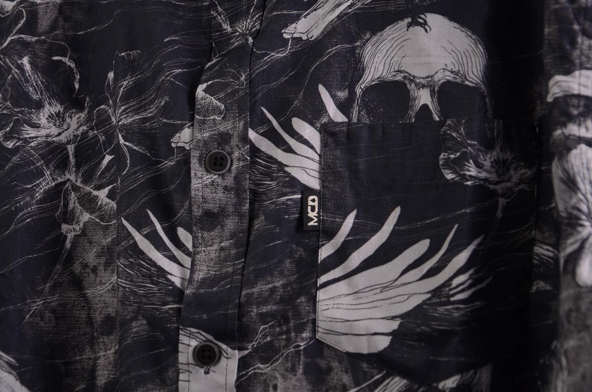 2350fa12f6e4c Carregando zoom... camisa mcd manga longa desert lines coleção inverno 17  preto
