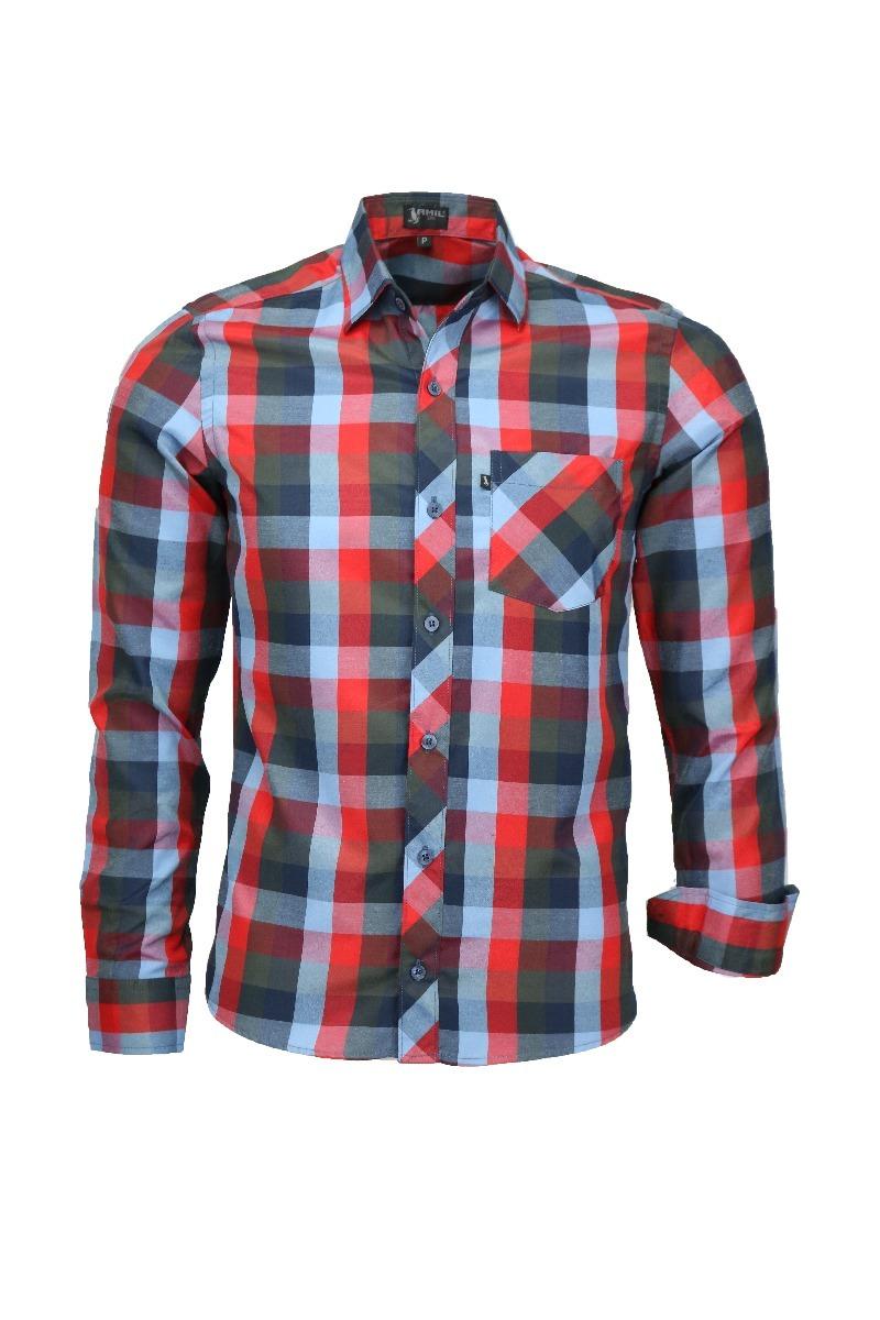 8de4d9b79d Kit Camisa Slim Paris E Camisa Xadrez Manga Longa - R  139