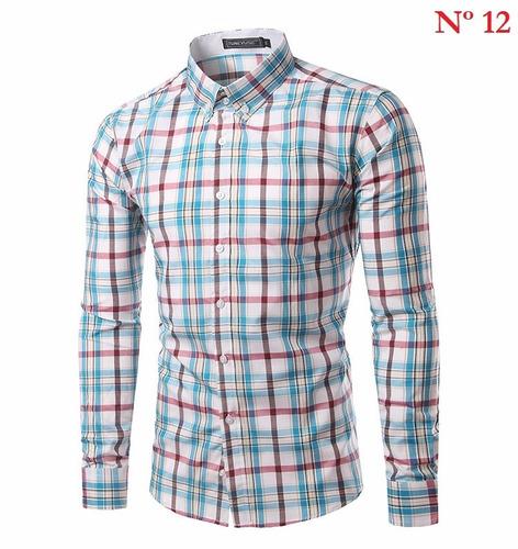 manga longa camisa masculino