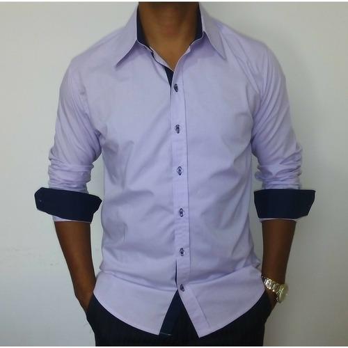 1453429b2e manga longa camisa social · camisa social manga longa slim fit lilas top de  linha