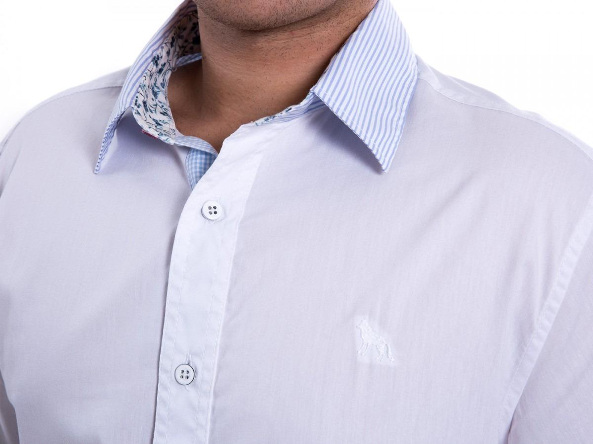 3529a76556762 Camisa Social Masculina Acostamento Manga Longa 58101044 - R  159