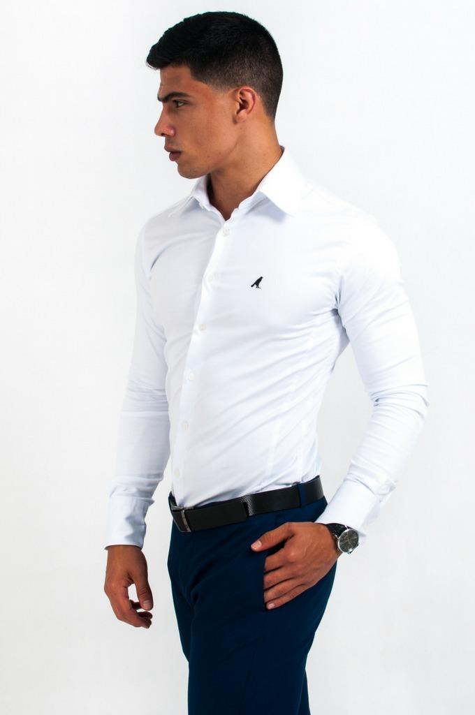 f7bed2c000 Camisa Social Levok Manga Longa Slim - R  189