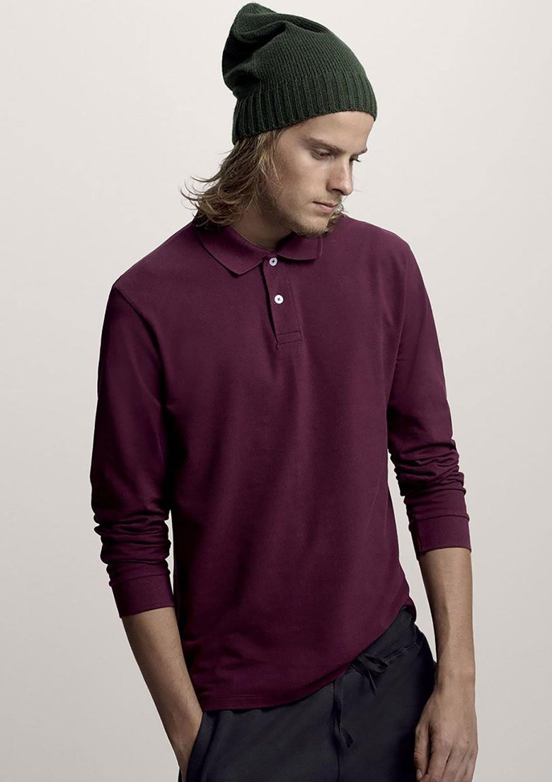 Carregando zoom... camisa polo masculina manga longa básica ... 3bf890f607b56