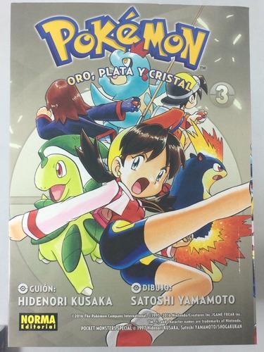 manga pokemon oro, plata y cristal #3