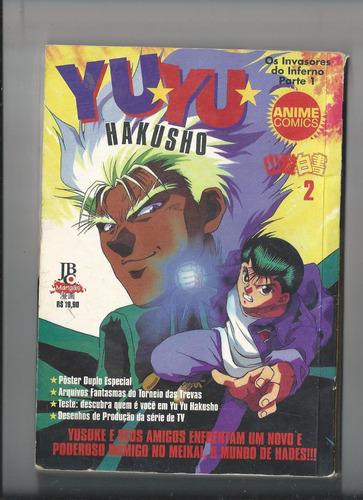 mangá yu yu hakusho anime comics os invasores do inferno par