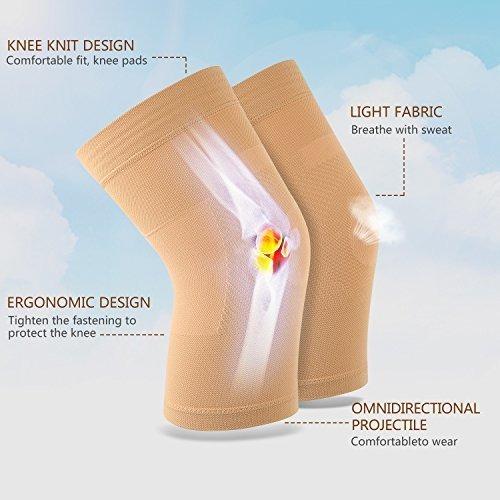 mangas de rodilla, 1 par, rodillera apta para hombres y muje